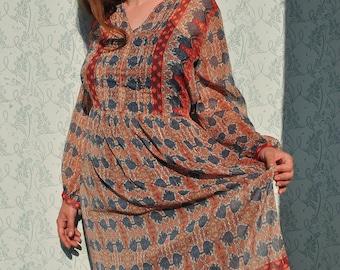 Indian dress, Indian tunic, boho dress, boho clothing, indian maxi dress, Indian summer dress, summer maxi dress, midi dress, summer tunic