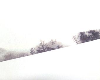 Misty Forest Washi Tape - Forest Washi Tape - Tree Washi Tape, 15mm x 7m