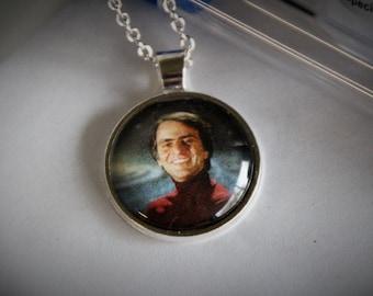 Carl Sagan Necklace - Scientist Necklace - Celebrating Science