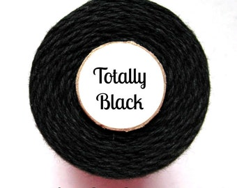 Solid Black Bakers Twine by Trendy Twine -Totally Black