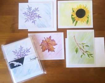 Four Seasons Note Cards
