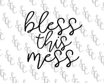 Reusable Stencil - Bless this Mess - Many Sizes to Choose from!