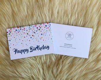 Multi-colour Bubble Happy Birthday Card