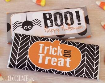 Halloween Candy Bar Wrapper  - Halloween - Halloween treat  - Business Halloween treat - Personalized - Halloween Party
