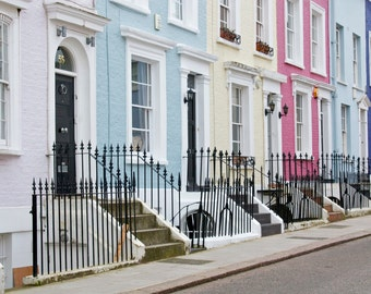 London Photography - Notting Hill Houses Print - Colourful - Travel