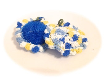 Sunkissed Flower Blue Pot Scrubbers