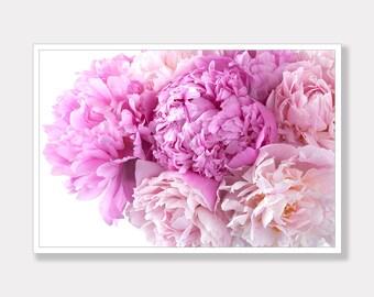 Peony Photo Print, Flower Photo Print, Printable Photo, Modern Photo Art, Instant Digital Download, Photo Download, Instant Download