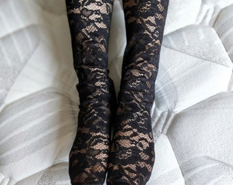 Black Lace  Socks