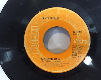 Elvis Presley Kentucky Rain RCA Victor 45 RPM Vinyl My Little Friend