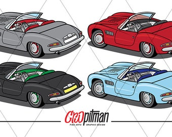 Classic European Convertible Digital File, with Multiple Colour Options