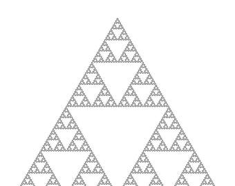 Mathematical Wall Art. 8th Iteration Sierpinski Triangle Space-Filling-Curve