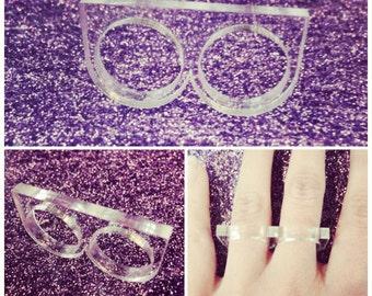 Laser Cut Acrylic Two Finger Ring Base