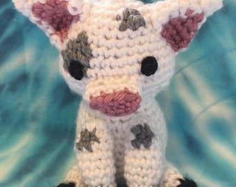 """Crocheted Pua - from Disney's """"Moana"""""""