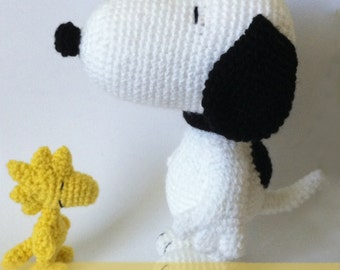 Amigurumi Patterns Snoopy : Woodstock etsy