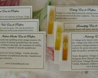 Natural Perfume Samples, Organic Perfume, perfume,  Natural botanical fragrance, Spring Discovery Set, vegan perfume,  musk fragrance,