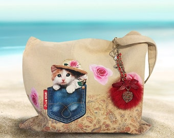 Cat Tote, ragdoll tote bag, cat tote bag, ragdoll tote, tote bag canvas, cat design, canvas tote bag, long handled tote bag, Eco bag