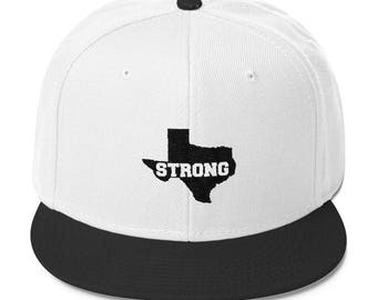 Houston strong Hat Wool Blend Snapback