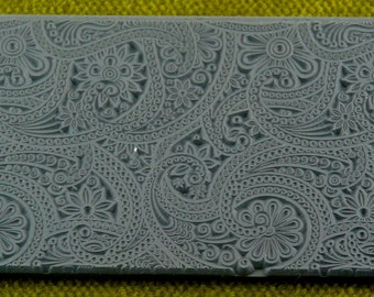 Eastern Paisley Clay Texture Rubber Stamp  TTL-129