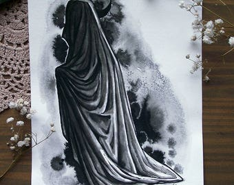 Cloaked - Original ink drawing