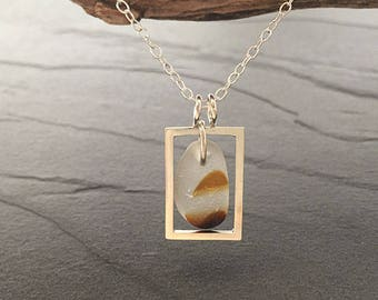 End of Day Sea Glass Pendant