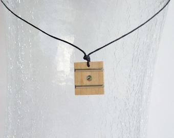 Maple Guitar/Ukulele Fretboard Pendant Necklace
