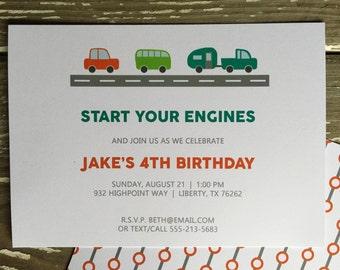 Birthday Party Invitation - Jake