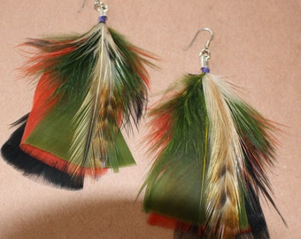 FEATHER Earrings -- Bird, Native American, Southwest - Style 6