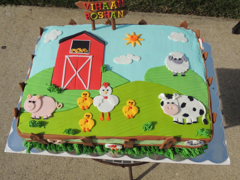 Fondant Farm 2d Animals Cake Toppers Delux Set Pig Sheep