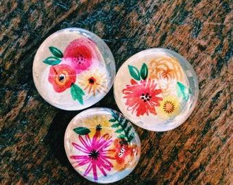 Flower Magnets (set of 3)