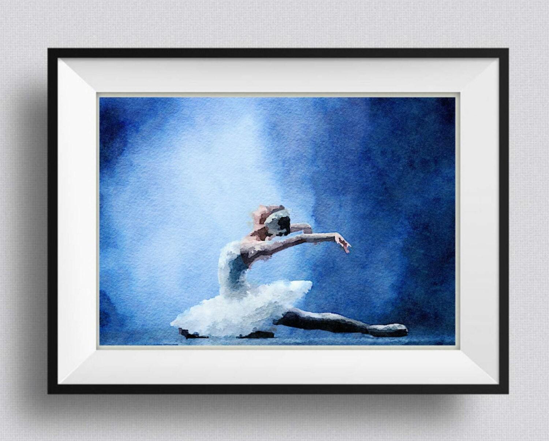 Ballett Druck Swan Lake Tchaikowski Ballett Malerei