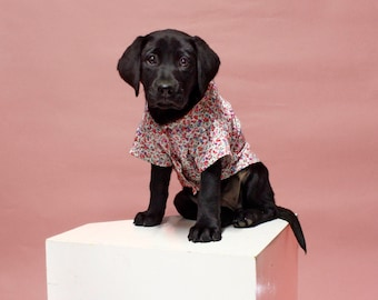 Dog Shirt | The Rosie Shirt | Dog Clothes | Dog Apparel | Dog Shirts for Dogs | Pet Clothing | Dog Button Up | Floral Shirt