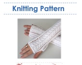 Items Similar To Knitting Pattern Lace Fingerless Gloves