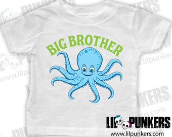 Big Brother Octopus T-shirt or Onesie