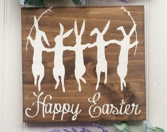 Happy Easter Sign // Easter Sign // Easter Bunny Sign // Easter Bunny // Happy Easter