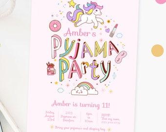 INSTANT DOWNLOAD - Pyjama Party Invite | Sleepover Invite | Slumber Party Invite