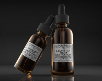 Leather Rum Geranium,  beard oil, tonic, all natural