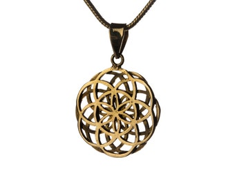 Seed of Life Pendant - Double Seed of life Necklace Sacred Geometry Spiritual jewellery Yogi Jewellery Handmade Free UK delivery BP3