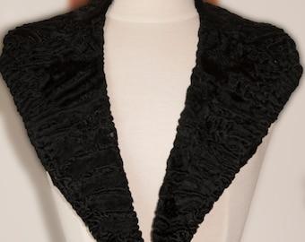 Vintage 1930-1950's black fur collar