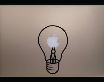 Light Bulb MacBook Laptop Decal
