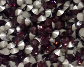 36 pp21 Burgundy Swarovski Article 1028 Chatons 2.8mm
