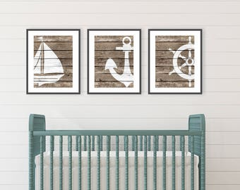 Rustic Beach Decor Prints INSTANT DOWNLOAD Beach Bathroom decor, Nautical Living Room, Ocean Nursery Art, Nautical Nursery Wall Art, Sea Art