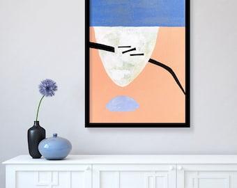 Original painting, abstract art, acrylic painting, modern painting, abstract painting, geometric art, pink painting, blush pink wall art