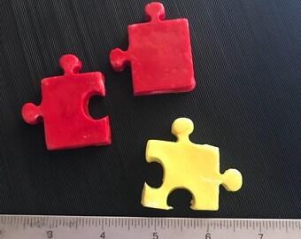 Fondant puzzle pieces