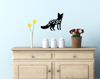 Wall Decal - Fox Decal- Wall Decal, Cell Decal, Laptop Decal