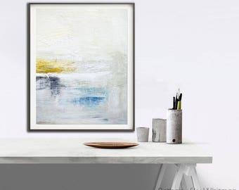 Modern Art Print Abstract Art Printable Wall Art Digital Download Print Blue White Yellow Digital Art Wall Decor Accent Painting Art Print