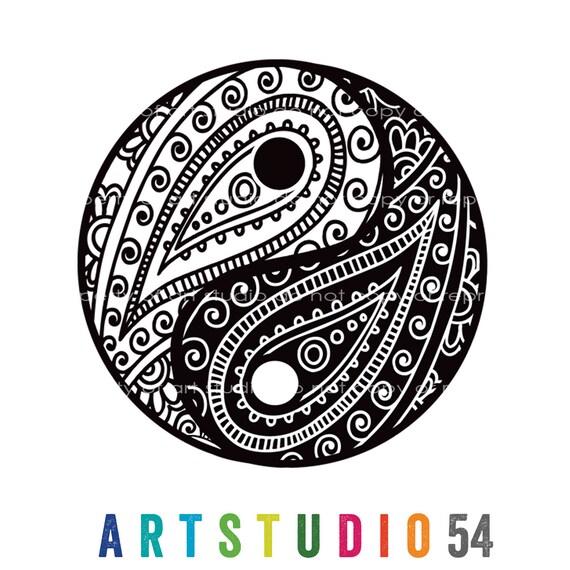 Weatherproof Vinyl Sticker - Henna Peace Hand, Unique, Fun Sticker for Car, Luggage, Laptop - Artstudio54