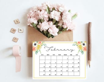 2018 Printable Citrus Blooms Calendar