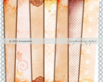 Scrapbooking Papers Set of 7