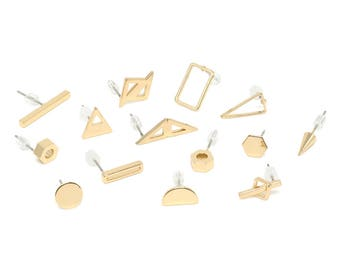 Stud Earrings. Mix and Match Stud Earrings. Gold Studs. Small Stud Earrings. Select Your Own PAIR.