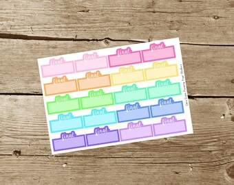 Final Planner Stickers
